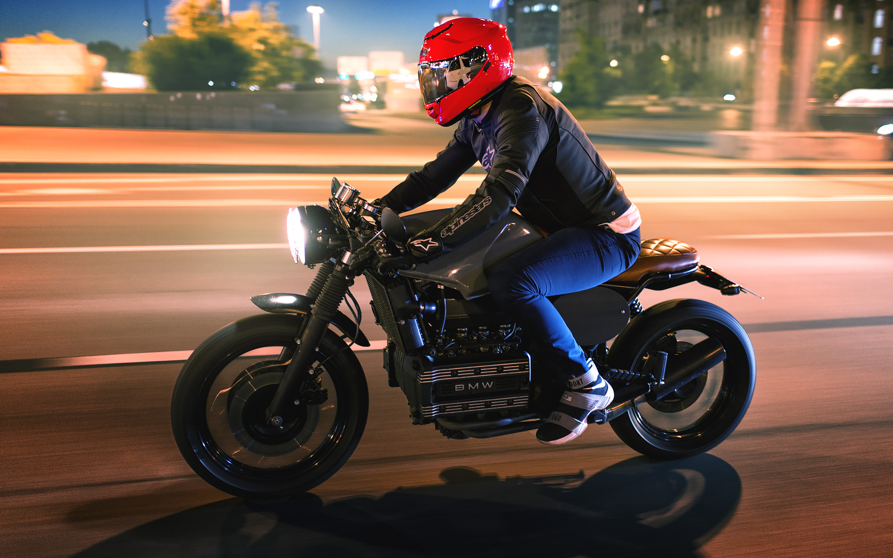 Bmw K100 Rt 1988 Caferacer Night Brick Or During 30 Minutes Shoots